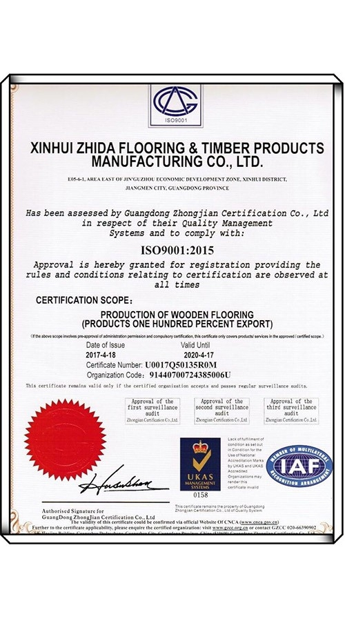 ISO9001: 2015 Certificate