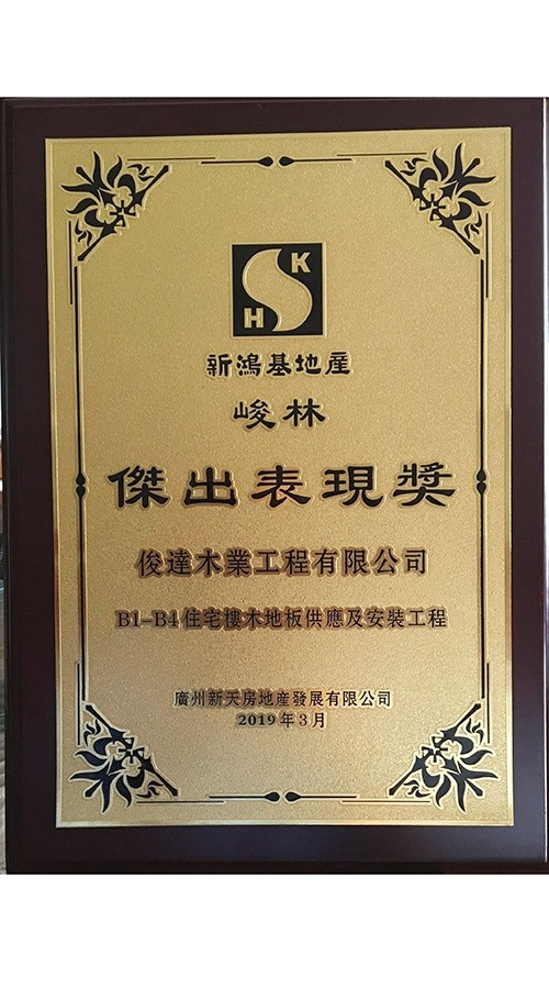 Award for Outstanding Performance