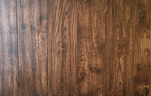 Solid /Engineered Oak Flooring Handscraped stained color